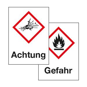 GHS-Symbole mit Text