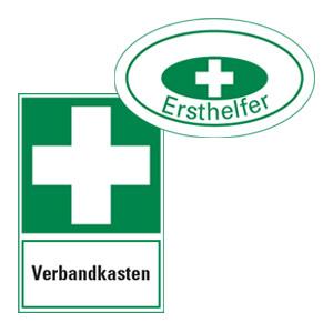 Erste Hilfe-Schilder