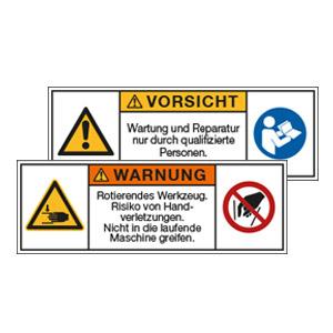 Maschinen- und Anlagenschilder, nach ISO 3864-2