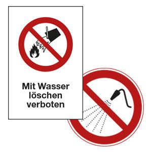 Verbotsschilder für das Betriebsgelände