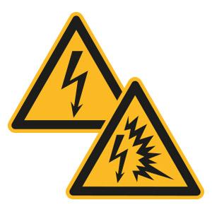 Warnschilder für Elektrische Spannung