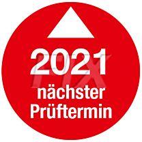 Prüfplakette - Nächster Prüftermin - 2021, Ø 30mm