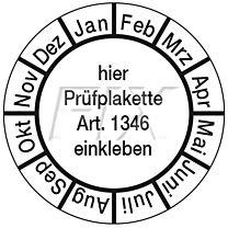 Monatsgrundplatte für Plakette Nr. 1346
