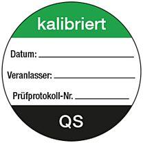 QS-Etiketten: kalibriert