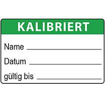 QS-Etikett: kalibriert