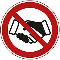 Hände schütteln verboten