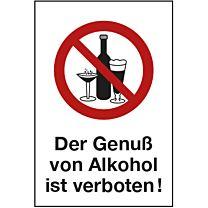 Alkoholverbot - Kombizeichen