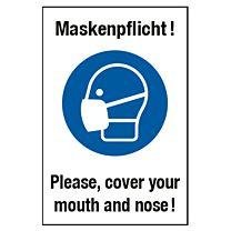 Maskenpflicht - deutsch-englisch