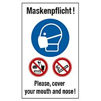 Maskenpflicht, deutsch-englisch