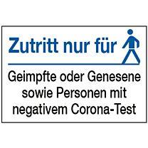 Zutrittsbedingungen Corona