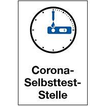 Corona Selbsttest-Stelle