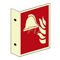Fahnenschild - Brandbekämfpung - LN