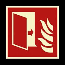 Brandschutztür langnachleuchtend
