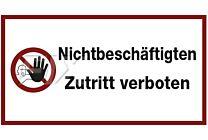 Nichtbeschäftigten Zutritt verboten