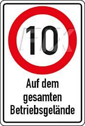 10 km/h - Betriebsgelände