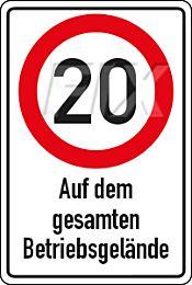 20 km/h - Betriebsgelände