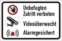 Zutritt verboten  - videoüberwacht