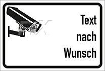 Videoüberwachung Text nach Wunsch