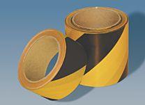 Warnmarkierungsband ohne rückseitiges Abdeckpapier, gelb/schwarz