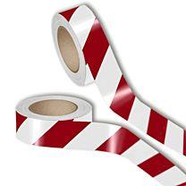 Warnmarkierungsband, reflektierend, rot/weiß - 3M