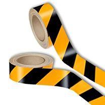 Warnmarkierungsband, reflektierend, gelb/schwarz - 3M