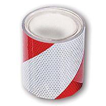 Warnmarkierungsband, reflektierend, rot/weiß