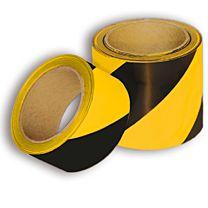 Warnmarkierungsband mit rückseitigem Abdeckpapier, gelb/schwarz
