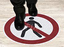 Bodenmarkierer - Fußgänger verboten