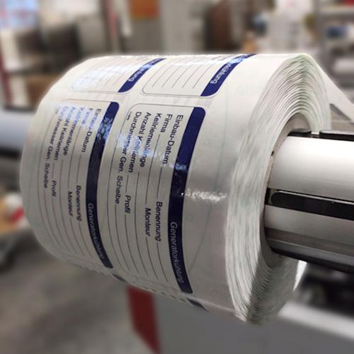 Etiketten zur Nachbeschriftung mit dem Thermotransferdrucker