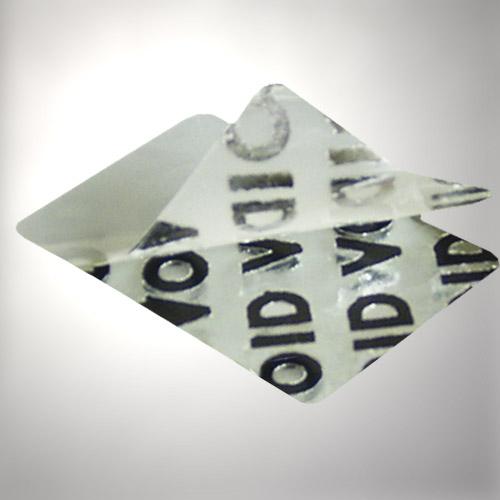 Sicherheitsetiketten aus Voidfolie mit sichtbarem Schriftzug